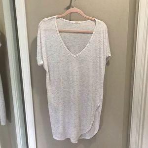 Flowy cream tunic T-shirt